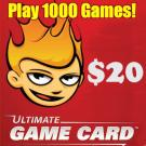 $20 ultimate game card
